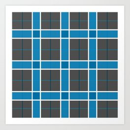 Winter Plaid Art Print
