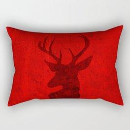 Red Deer Stag Design Rectangular Pillow