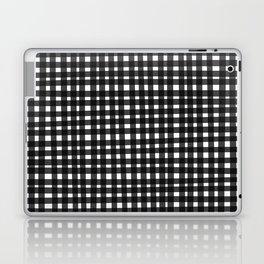 Black Gingham Laptop & iPad Skin
