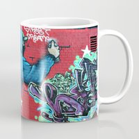 graffiti Mugs featuring graffiti by mark ashkenazi