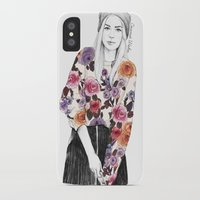 gemma iPhone & iPod Cases featuring Gemma Sketch by Coconut Wishes