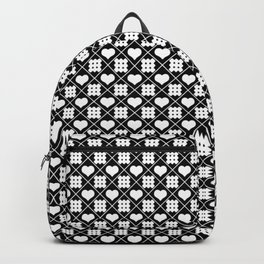 Rhombuses and hearts Backpack