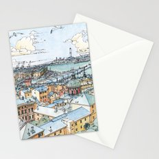 Panoramic of Genoa Stationery Cards