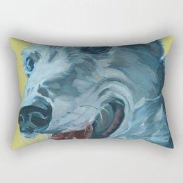 Dilly the Greyhound Portrait Rectangular Pillow
