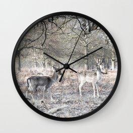 December in Richmond Park Wall Clock