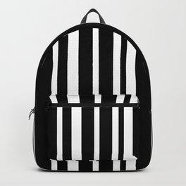 Black Stripe Pattern Home Decor | Black and White | Minimalism Backpack