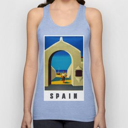 Vintage Spain Travel - Fisherman Unisex Tanktop