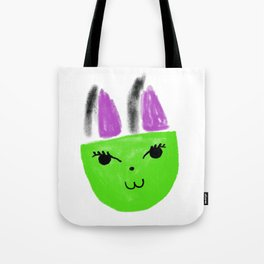 Greeny Kitty Tote Bag