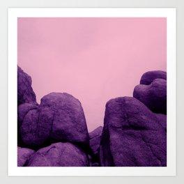 joshua tree boulders Art Print
