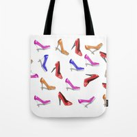 shoes Tote Bags featuring Shoes by Paula J James