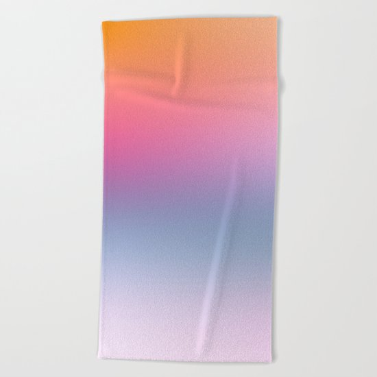 Rainbow Blush Beach Towel