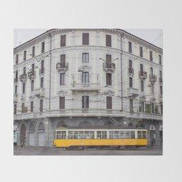 Milan Yellow Street Car Throw Blanket