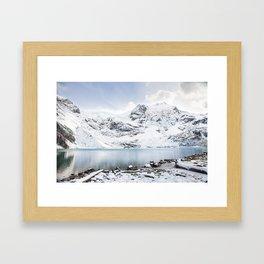 Snowy Joffre Lake Framed Art Print