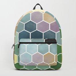 Hexagon Watercolor Backpack