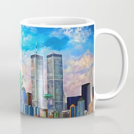 NYC, WTC, Twin Towers, Statue of Liberty Coffee Mug
