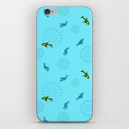 Blue Dolphin and Orca iPhone Skin