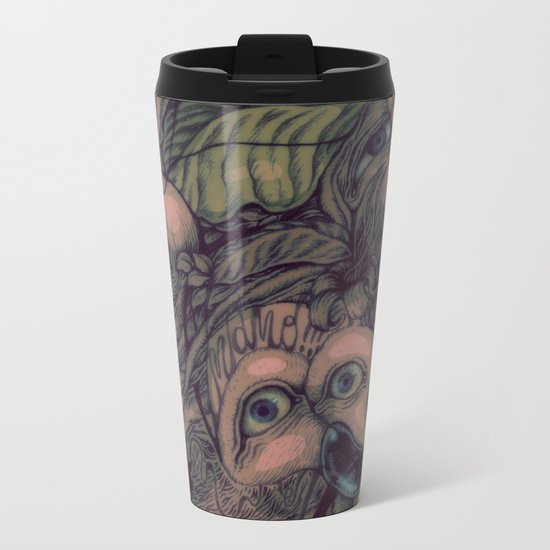 self portrait Metal Travel Mug