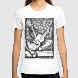 """Fine Art Print, """"Guitar Man"""" T-shirt"""