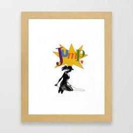 jump for your heart Framed Art Print
