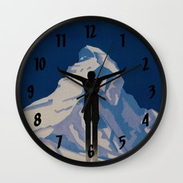 Vintage Zermatt Switzerland Travel Wall Clock