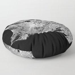 Los Angeles map Floor Pillow