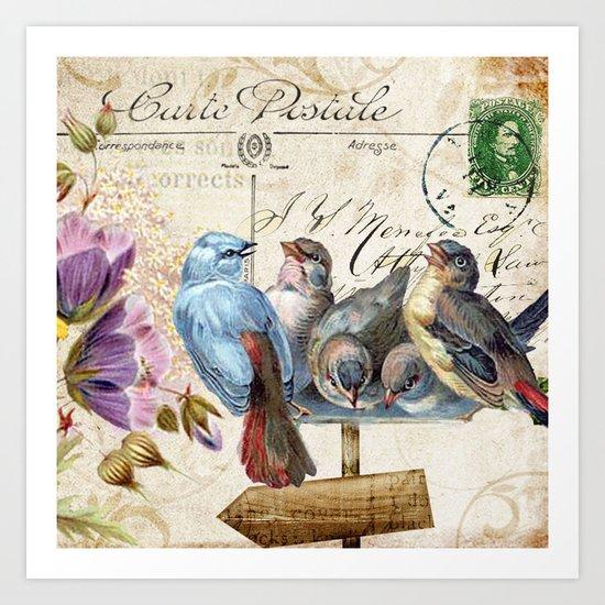 Sweet bird #3 Art Print