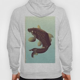 China Koi Vintage Stretched travel poster Hoody