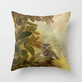 Northern Saw-Whet Throw Pillow