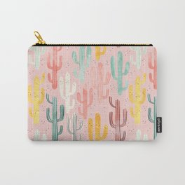 Long Multicolored Cacti Carry-All Pouch