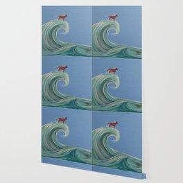 Surfing Kelpie Wallpaper