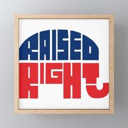 Raised Right Framed Mini Art Print