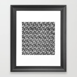 Zentangle Paradox  Framed Art Print