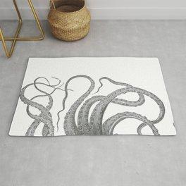 Vintage kraken octopus tentacles nautical antique sea creature steampunk graphic print Rug