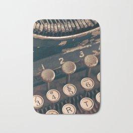 Vintage Typewriter - Macro Photography #Society6 Bath Mat