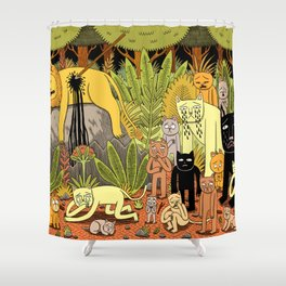 Death of the King Shower Curtain