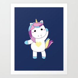 Baby unicorn model Art Print