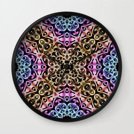 Floral Wrought Iron G80 Wall Clock