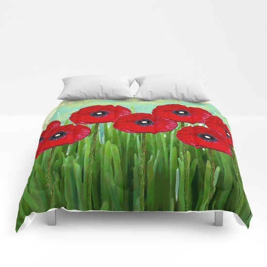 Poppies 2 Comforters