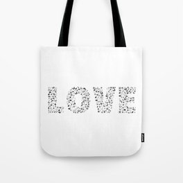 Love Typography Tote Bag
