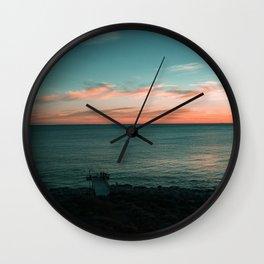 North Beach Sunsets Wall Clock
