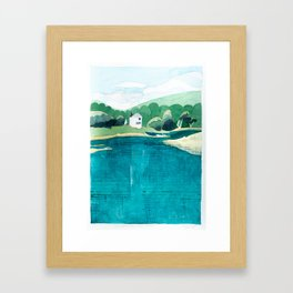 View From Falls Point Marine, Maine Framed Art Print