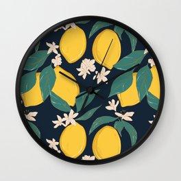 Lemon bloom Wall Clock