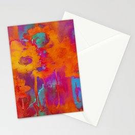 bright abstract bouquet Stationery Cards