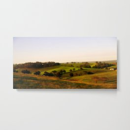 Morning shadows over the Alpine Ranges Metal Print