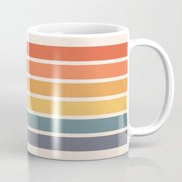 Parama - Classic Colorful 70s Vintage Style Retro Racing Summer Stripes Coffee Mug