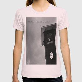 B&W Clock Tower T-shirt