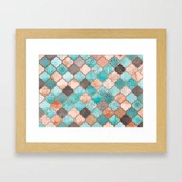 Moroccan pattern artwork print Framed Art Print