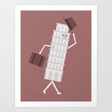 The Leaving Tower Of Pisa Art Print