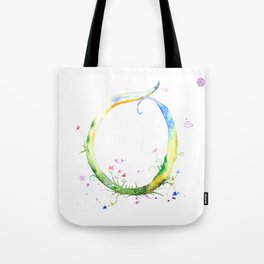 Letter O watercolor - Watercolor Monogram - Watercolor typography - Floral lettering Tote Bag