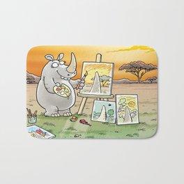 Rhino The Artist Bath Mat
